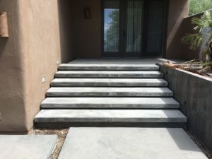 Natural Grey Concrete Steps