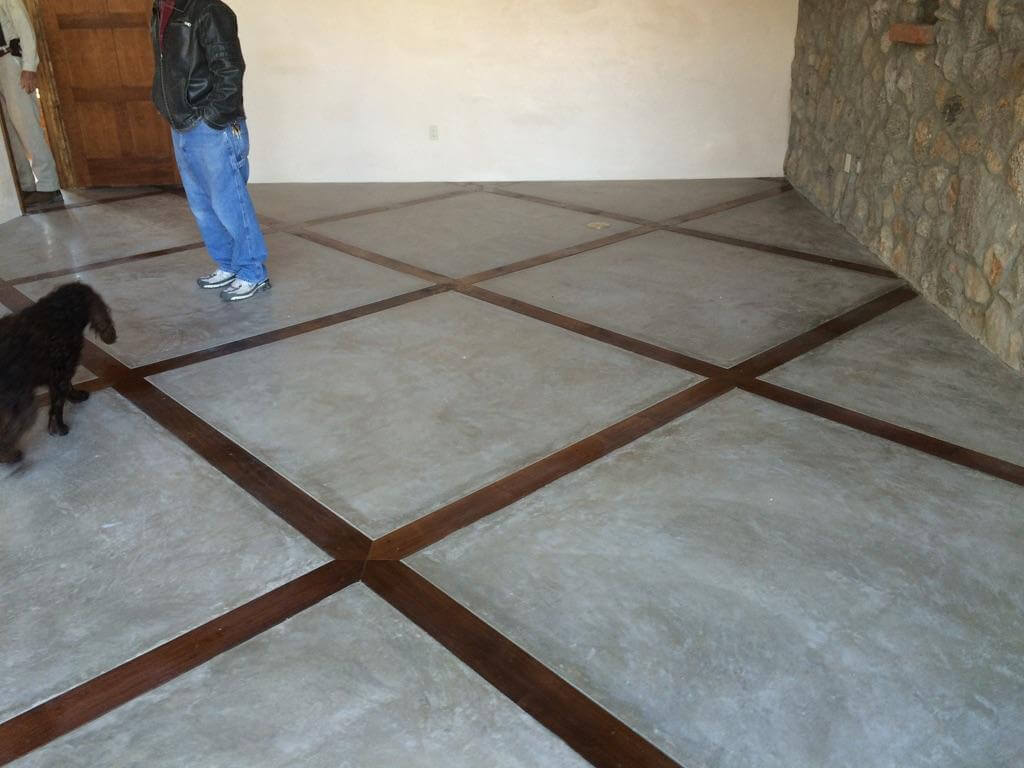 Polished Concrete House Floors With Decorative Bands